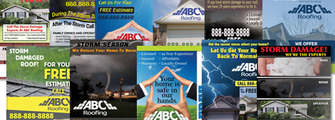 roofing flyers