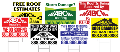 Strategic Roofing Marketing With Yard Signs
